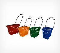 Корзина-тележка пластиковая с 2-мя ручками TECHNO