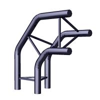Угол 3-х труб вертикальный TS-6