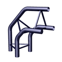 Угол 3-х труб горизонтальный TS-7